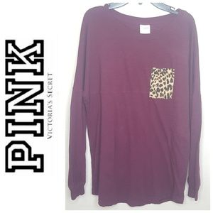 4/$25 PINK Victoria's Secret Cheetah Leopard Top E